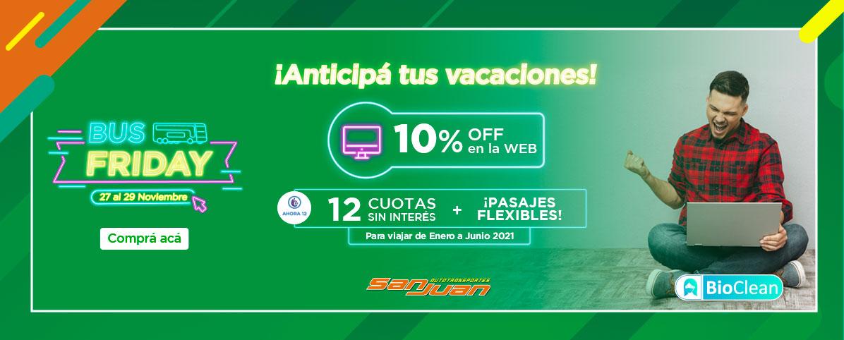 ¡Llega el Bus Friday a Autotransporte San Juan!