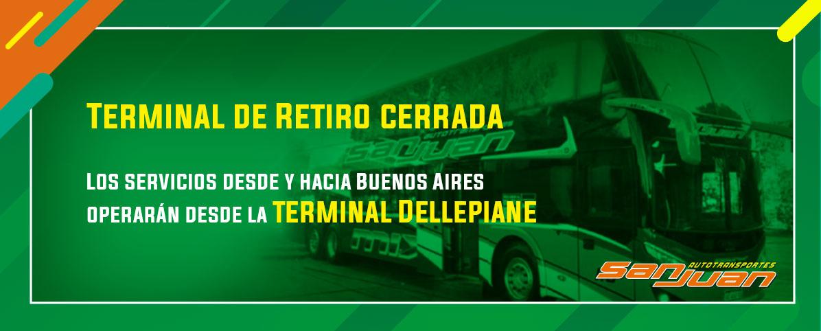 Terminal de Retiro cerrada